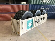1/50 Container MAERSK 40' Open Top With Tyres