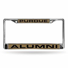 Purdue Boilermakers Alumni Chrome Metal Laser Cut License Plate Frame