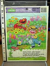 SESAME STREET frame puzzle ELMO nursery rhyme garden grow Prairie Dawn 1993