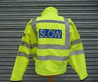 HORSE Riding Hi Vis Gore-tex Waterproof Blouson Bomber Jacket Ex Police SLOW F5