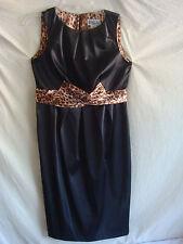 AUTH ROBBIE BEE LITTLE BLACK DRESS CHEETAH SLEEVELESS NEW BLACK SZ 6P