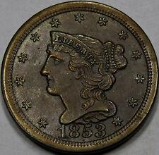 1853 Braided Hair Half Cent  Gem BU+BN... Very Flashy, Original, & So Very NICE!