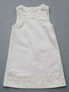Deux Par Deux NWT White Linen Dress Sleeveless Toddler Girls Size 2 Summer