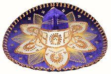Adult Mexican Mariachi Hat Sombrero Charro Cinco de Mayo Folk Art Purple Gold