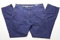Bonobos Mens Khaki Chino Pants Size 32 x 29.5 Slim Straight Fit Blue 100% Cotton