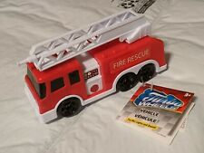 "NEW 6"" Turbo Wheels Fire Rescue Ladder Truck Lights & Sound batteries included"