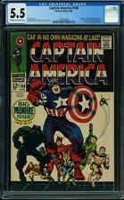 CAPTAIN AMERICA #100 CGC 5.5 Jack Kirby cover & art! 1968
