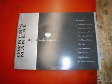 1994 EAGLE SUMMIT ORIGINAL FACTORY OWNERS MANUAL OPERATORS BOOK