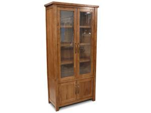 Stonybrook Mountain Ash Hardwood Display Unit Bookcase Cabinet