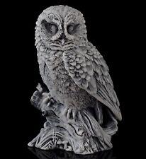 "Owl Marble Bird Figurine Russian Stone Art Animal Sculpture Statue 4 1/2"" Height"