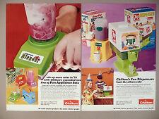 Chilton Toys 3-Page PRINT AD - 1973 ~ toy tea sets, 7-Up & Kool-Aid Machine
