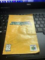 Star Fox 64 manual only Nintendo N64 instruction booklet