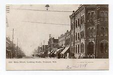 DB Postcard,Main Street,Looking South,Fremont,Nebraska,I.O.O.F.Hall,1908