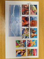 New Zealand stamps 1998 set of 10 Greeting stamps FDC