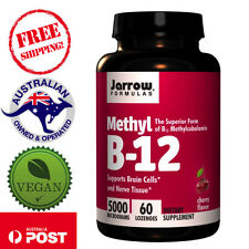 Jarrow Formulas Methyl B-12, Cherry Flavor, 5000 mcg, 60 Lozenges - Vegan