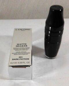 Lancome Matte Shaker Liquid Lipstick Second Skin Dark Fiction 501  NIB