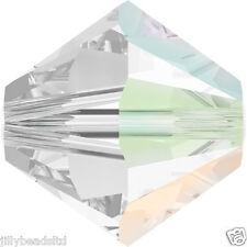SWAROVSKI 5328 XILION Bicone Beads 4mm: Crystal AB SATIN (50 Perline)