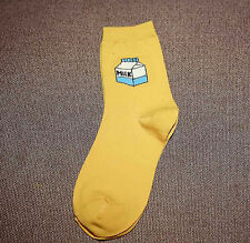 Milk Carton Chaussettes or mignon bouteille Hipster kawaii Taille UK 5-8 Noël UE 38-42