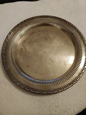 """International Silver Co. Camelot 12"""" Round Silverplate Serving Tray Platter 6170"""
