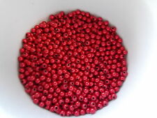 900pcs 4mm MIRACLE ROUND Acrylic Beads -  RED ( 30g )