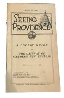 Antique 1929 Seeing Providence Journal Rhode Island Pocket Guide w/ Downtown Map