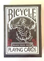 Bicycle Ellusionist Black Deck Tigers RED Pips US Poker Playing Cards Magic NEW