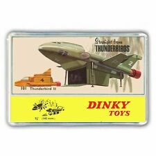 DINKY  THUNDERBIRDS- THUNDERBIRD 2 ADVERT ARTWORK JUMBO FRIDGE/ LOCKER MAGNET