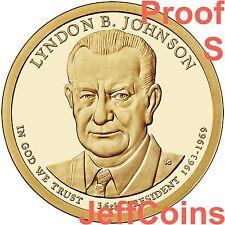 2015 S Lyndon B Johnson Presidential Golden Dollar Proof Coin via B.US Mint LBJ