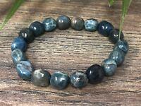 Blue Apatite Bracelet Stretchy Gemstone Crystal Stone Therapy Reiki Chakra Wicca