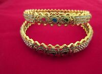 Indian Traditional Gold Plated Bridal & Wedding Ethnic Fashion Jewelry Bangles