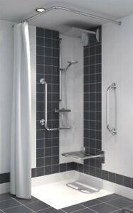 Duschvorhang für Dusche oder Badewanne wasserdicht 240 x 200 cm