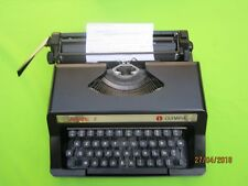 WORKING BLACK OLYMPIA DACTYLETTE S PORTABLE Typewriter V GOOD CONDITION ITALY