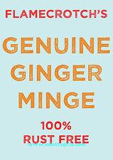 Flamecrotch's Ginger Minge Prank / Joke Pubes Card ~ Potty Mouth Cards - PM-LP04