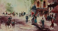 Vintage Art Original Old Oil on Canvas Hand-Painted & Signed Shalva Phachoshvili