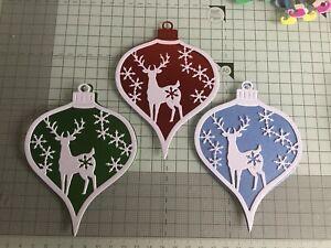 10x Feliz Navidad Tarjeta Toppers sentimientos Banners Papercraft Scrapbooking