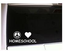 "Peace Love Homeschool 7"" Vinyl Sticker Car *P88 Decal Education School"
