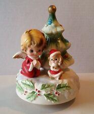 Vintage Josef Originals Christmas Angel Silent Night Music Box