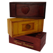 Set of 3 Chinese Puzzle Boxes