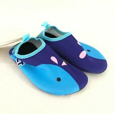 Cituo Toddler Boys Water Shoes Slip On Whale Blue US Size 11-11.5
