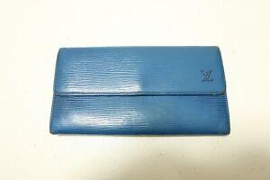 Authentic LOUIS VUITTON Portefeuille Sarah Epi Blue Long Wallet  #8231
