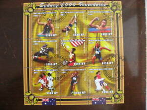 Tennis 6 U souvenir sheets each 1 or more Tennis stamp, for Sydney 2000 Olympics