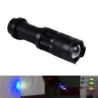 uv ultra violet led flashlight blacklight light 395nm inspection lamp torch SM
