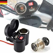 Motorrad Zigarettenanzünder USB Buchse Steckdose Lenker 12V/24V Wasserdicht