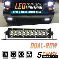 "Slim 7"" 816W LED Lights Bar Combo Spot Driving Work Offroad Backup Fog Truck 4WD"