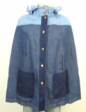 SEE BY CHLOE Poncho Cape Jeans Jacke Kapuze Blogger Gr. 38 (BC22)