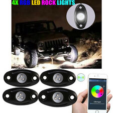 4x LED Rock Light Kit w/ 4 Pods Lamps For JEEP Off Road Truck Car ATV Under Body