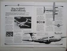 5/1983 PUB BEECHCRAFT KING AIR B200T AIRCRAFT AVION FLUGZEUG ORIGINAL AD