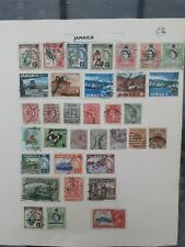 Jamaica Used Stamps Job Lot 2 Pages