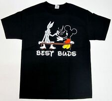 Best Buds T-Shirt Fun Bunny  Mouse Marijuana  Dope Hipster Swag S - 5XL