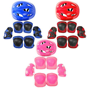 Kids Protective Gear Helmet+Knee Wrist Elbow Pad for Skating Balance Bike Skate